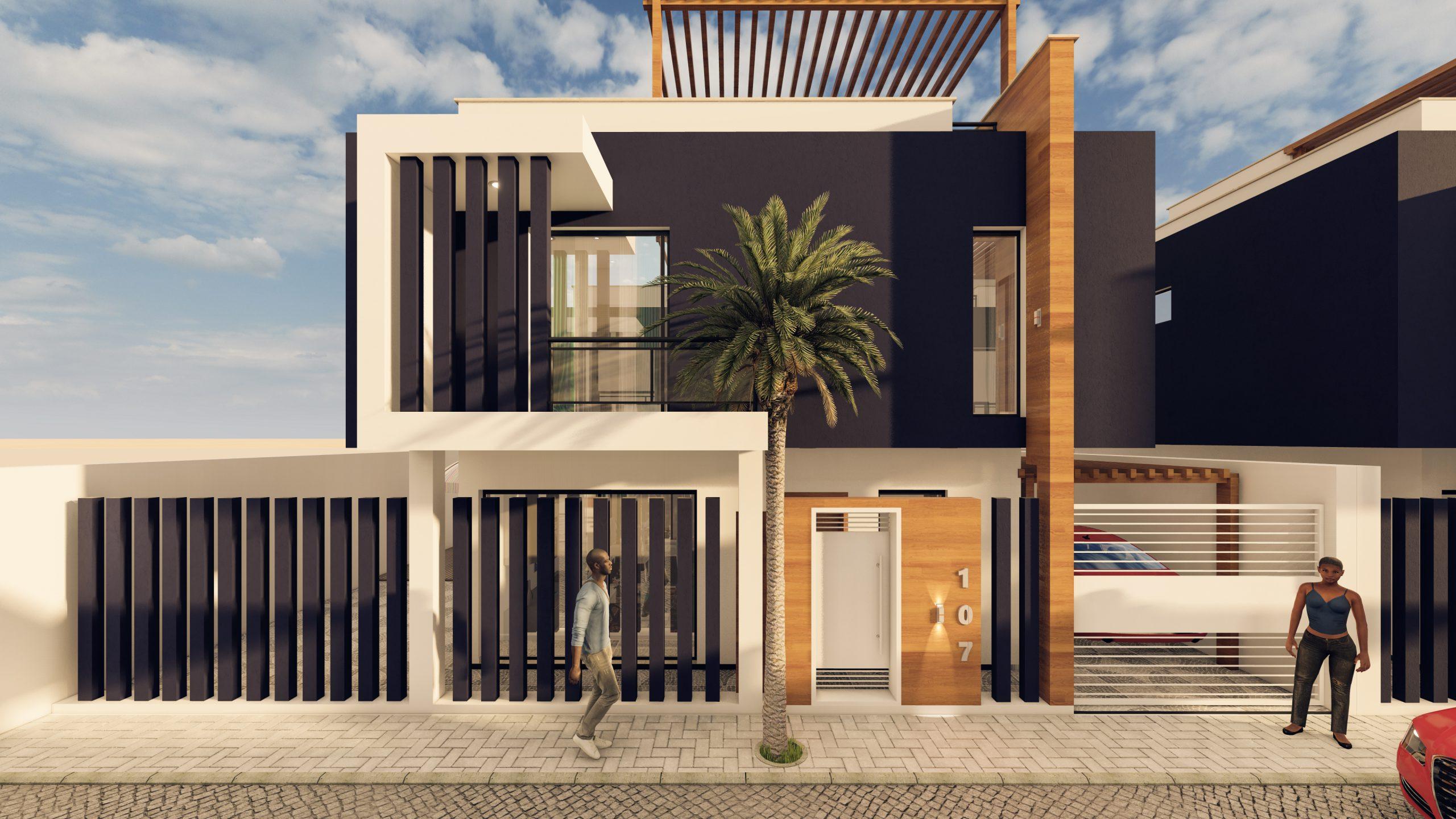 Villa on three floors